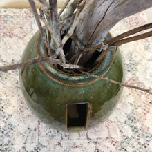 Load image into Gallery viewer, Round Brown and Green Ikebana Vase