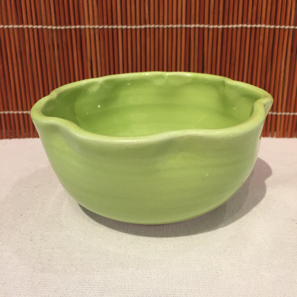 Small Green Bowl with a Wiggly Rim