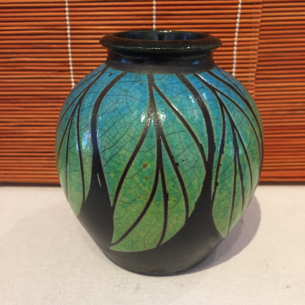 Vase - Blue and Green Rooted