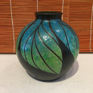 Blue and Green Rooted Vase