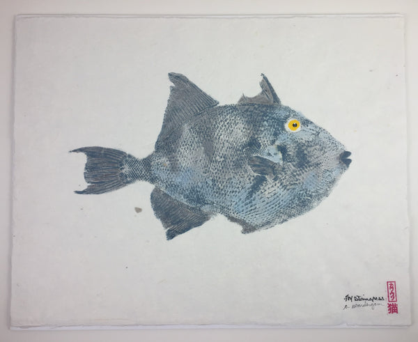 Gyotaku - Gray Trigger Fish