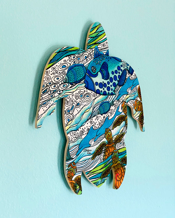 Wall Art Turtle - Into the Sea