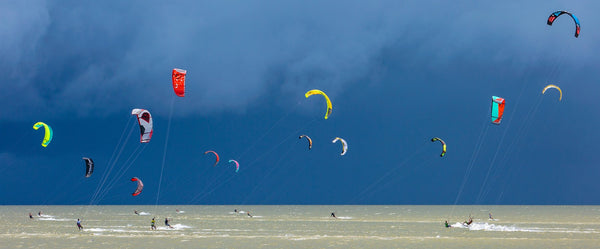 Kiteboards and Storm Clouds