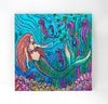 Wall Art Wood Triptychs - Mermaids with Seahorses