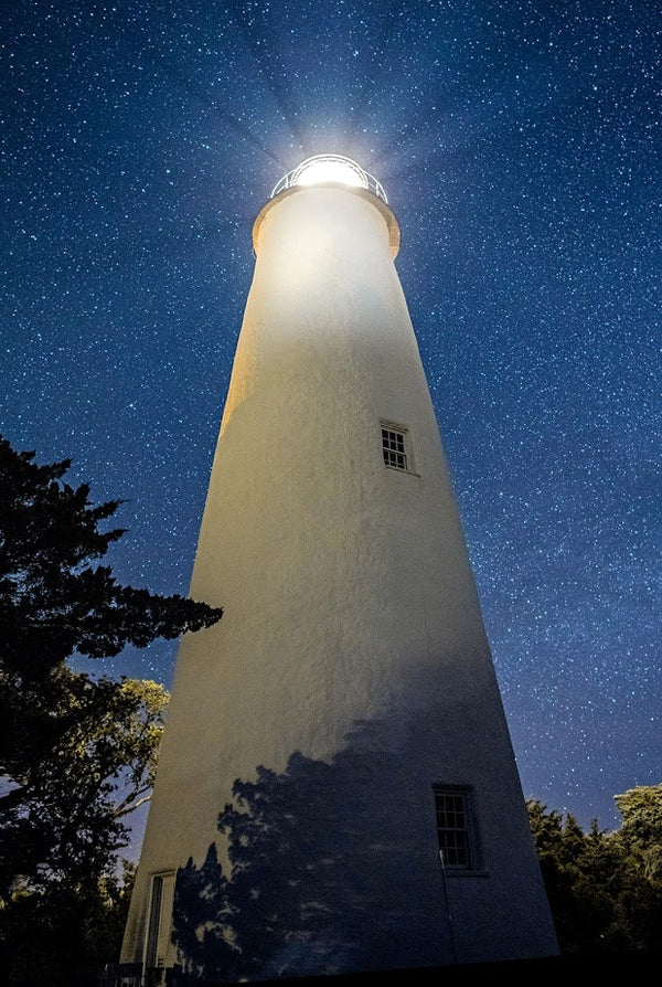 Ocracoke Light Under The Stars
