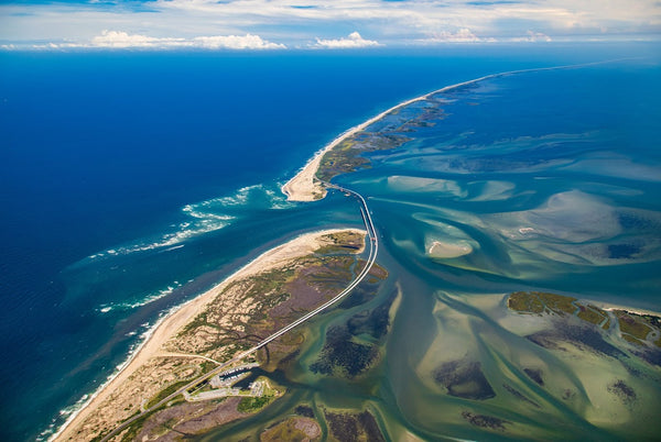 Photograph - Oregon Inlet and Hatteras Island From 6000