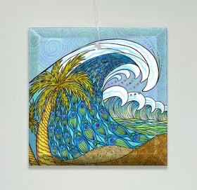 Ornament/Suncatcher - Palm Tree and Waves