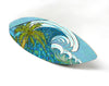 Wall Art Surfboard - Palm Tree and Waves