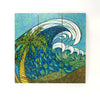 Wall Art Wood Triptychs - Palm Trees and Waves
