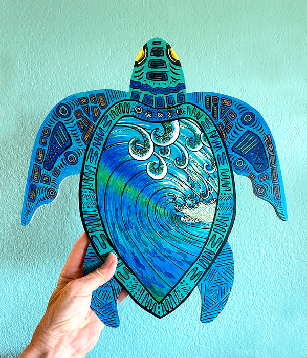 Wall Art Turtle - Party Wave
