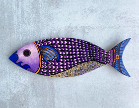Wall Art - Purple Fish