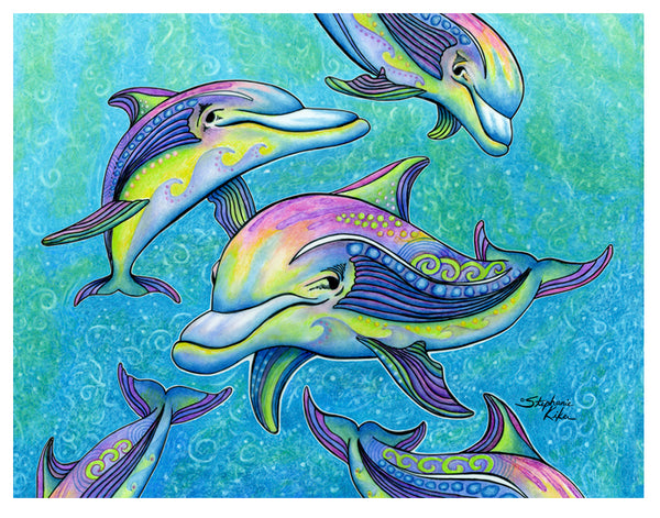 Photo Giclee - Rainbow Dolphin