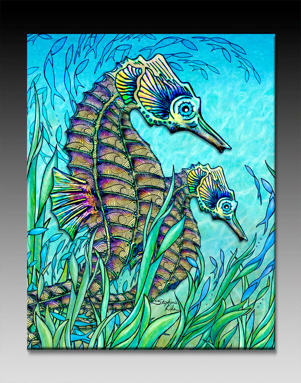 Ceramic Tiles - Seahorses