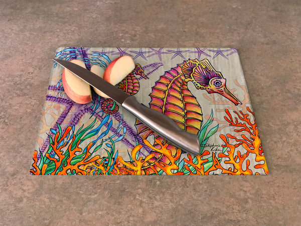 Cutting Board - Seahorses 20