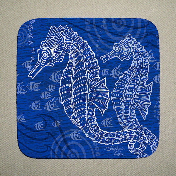 Coasters - Seahorses One Color