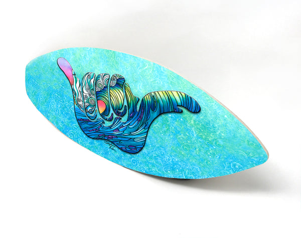 Wall Art Surfboard - Shaka