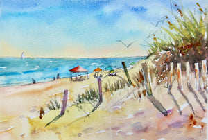 Watercolor Painting - South Nags Head Day