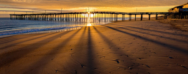 Sunrise and Pier Shadows