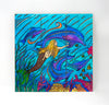 Wall Art Wood Triptychs - Swim With Dolphins
