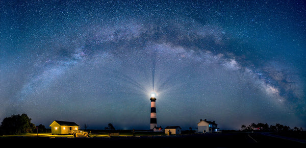 The Bodie Lighthouse and The Galaxy