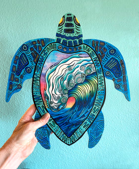 Wall Art Turtle - The Wave
