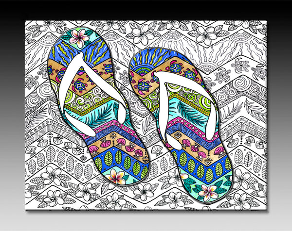 Ceramic Tiles - Tropical Flip Flops