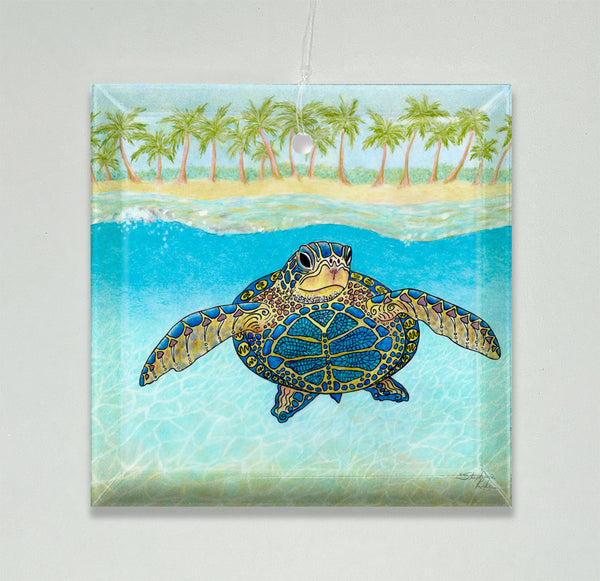Ornament/Suncatcher - Turtle Paradise