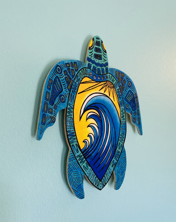 Wall Art Turtle - Wave of Turtle