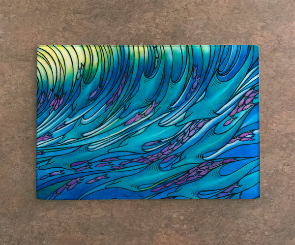 Cutting Board - Waves of Dolphins