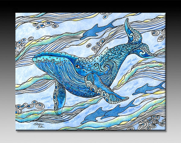 Ceramic Tiles - Whale Watch