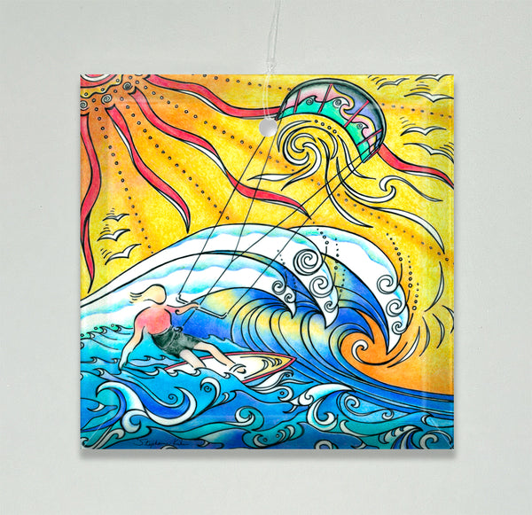 Ornament/Suncatcher - Wind and Waves
