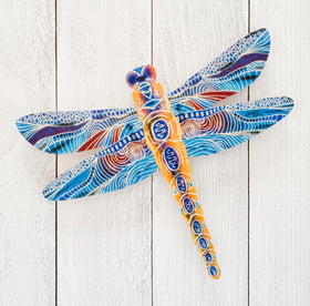 Wall Art - Yellow Dragonfly