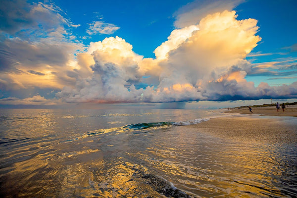 Yellow Thunderhead Over Beach