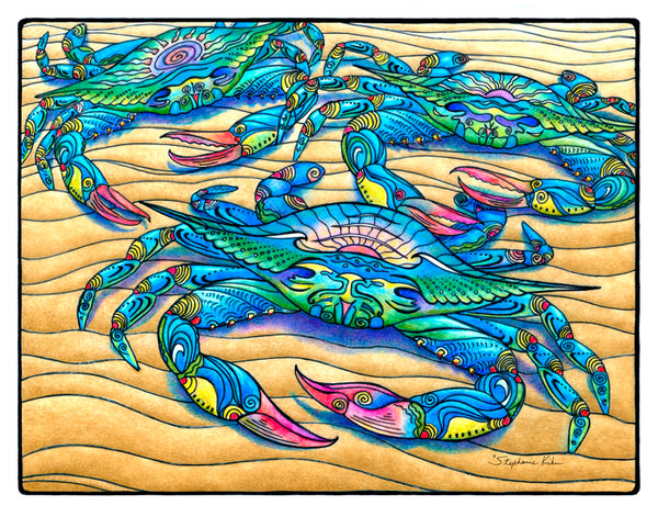Photo Giclee - Blue Crabs