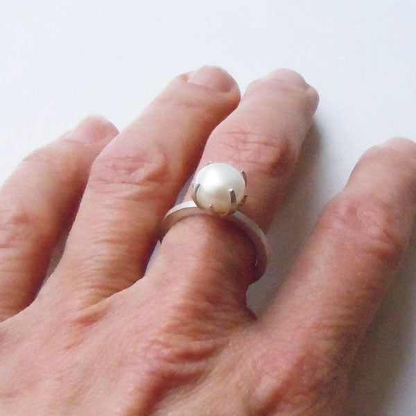 Compass Rose Pearl Ring