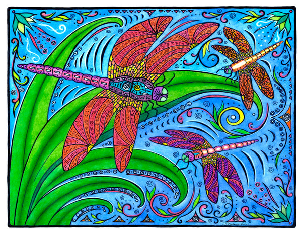 Photo Giclee - Dancing Dragonflies