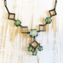 Load image into Gallery viewer, Deco Squares Statement Necklace