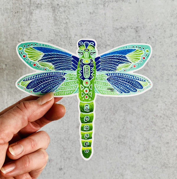 Sticker - Green Dragonfly