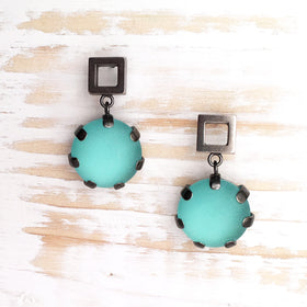 Earrings - Boulder and Square