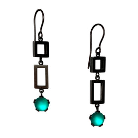 Square Rectangle Drop Earrings