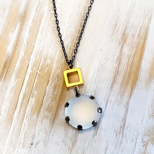 Boulder and Square Pendant
