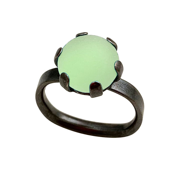 Prong Ring - Squared Band - Medium