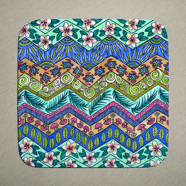 Coasters - Tropical Pattern