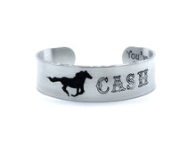 Load image into Gallery viewer, Personalized Horse Memorial Bracelet