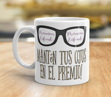 Load image into Gallery viewer, Spanish Stay Focused Keep Your Eyes on The Prize Coffee Mug JW Gift Inspirational Tea Cup Pioneer School Gift Motivational Encouraging Quote