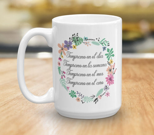 Spanish JW Pioneer Mug - Inspirational Coffee Cup Gift - Pioneer School Motivational Coffee Mug - Planning Goals - JW Quote - Custom Mug