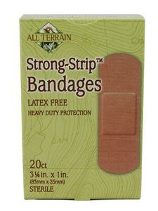 "Strong Strip Bandages 1"" x 3.25"" 20 pc"