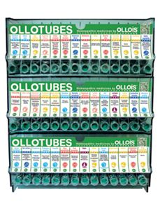 Ollotubes Display with 252 Tubes