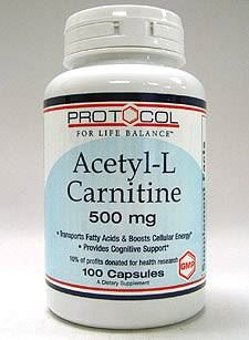 Acetyl -L -Carnitine 500 mg 100 caps
