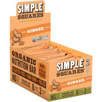 SIMPLE Squares OG Protein Ginger 12pk